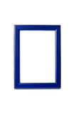 Blue frame isolated. On white Stock Photos