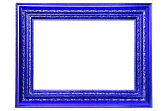 Blue frame. Isolated on white background Royalty Free Stock Images
