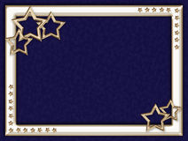 Blue frame with metal stars Royalty Free Stock Image