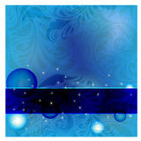 Blue Frame On Seamless Floral Royalty Free Stock Photography