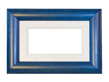 Blue frame panorama. Blue panorama frame isolated included clipping path Stock Photo
