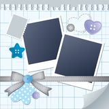 Blue frame for photos Stock Photos