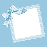 Blue frame and ribbon Stock Images
