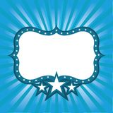 Blue Frame with Stars Stock Image