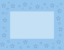 Blue frame with stars Stock Photo