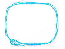 Blue frame of thread Stock Image