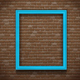 Blue Frame On Wall Stock Image