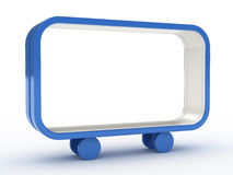 Blue frame on wheels Royalty Free Stock Photography