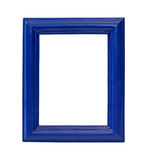 Blue frame. Blue wooden frame isolated with clipping path included Royalty Free Stock Photos