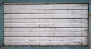 Blue Framed Gray Weathered Wall Stock Image