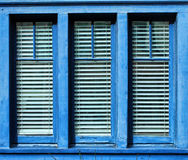 Blue Framed Window Stock Photography