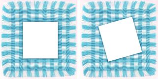 Blue frames. Two particular frames of azure checkered for your photos. Suitable for scrapbooking Royalty Free Stock Photos