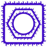 Blue Frames Royalty Free Stock Images