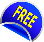 Blue Free Button Stock Photography