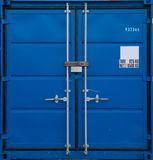 Blue freight container Stock Images