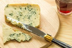 Blue french cheese Stock Images