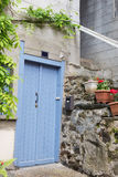 Blue French door Stock Images