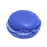 Blue french macaroons. Tasty colorful macaroon. Dessert Stock Photos