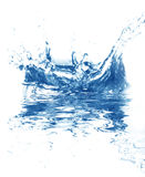 Blue fresh water Royalty Free Stock Photography