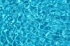 Blue fresh water movement Royalty Free Stock Photography