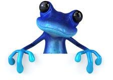 Blue frog royalty free illustration