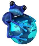 Blue frog stock illustration