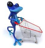 Blue frog Stock Image