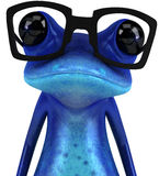 Blue frog Royalty Free Stock Image