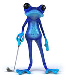 Blue frog Royalty Free Stock Photo