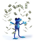 Blue frog. Cute little frog , 3D generated Stock Photos