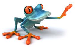 Blue frog. Cute little frog , 3D generated Royalty Free Stock Images