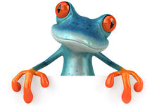 Blue frog. Cute little frog , 3D generated Stock Photo