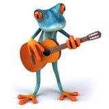 Blue frog. Cute little frog , 3D generated vector illustration