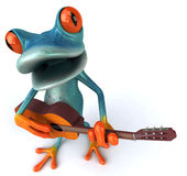 Blue frog Stock Photo