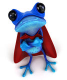 Blue frog Stock Images