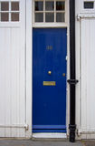Blue front door. The picture was taken in London Royalty Free Stock Photo