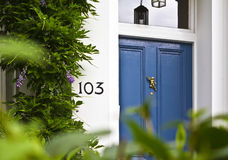 Blue Front Door Stock Images