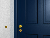 Blue front door Royalty Free Stock Image