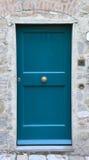Blue front door Stock Photo