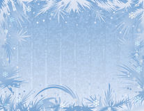 Blue frost background. Stock Photography