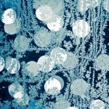 Blue frost background Royalty Free Stock Photo