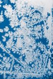 Blue frost background Stock Image