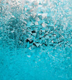 Blue frost background. Pattern frosty Windows. the winter`s tale. background for business cards Stock Image