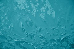 Blue frost pattern. Stock Photos