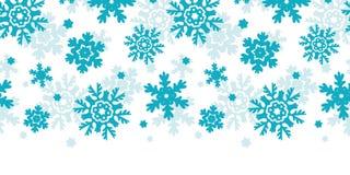 Blue Frost Snowflakes Horizontal Seamless Pattern Royalty Free Stock Photo