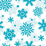Blue Frost Snowflakes Seamless Pattern Background Stock Photos