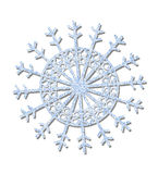Blue frosted snowflake Royalty Free Stock Photography