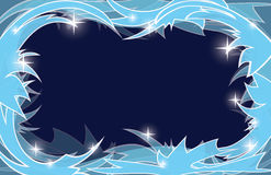 Blue frosty christmas background - vector Royalty Free Stock Image