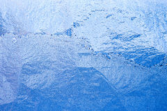 Blue frosty glass Ice background, natural pattern Royalty Free Stock Photography