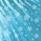 Blue frosty wave with falling snow vector Stock Photo
